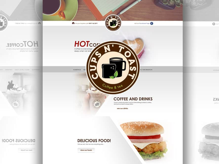 Website Design for Cups N Toast