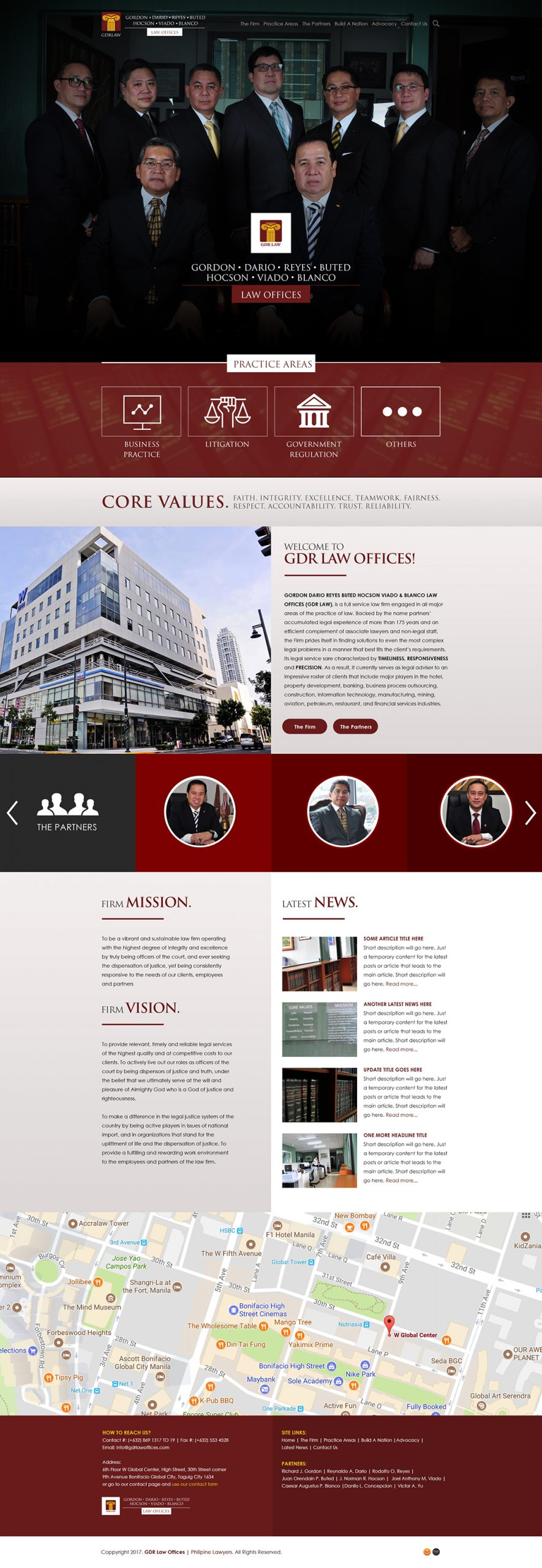 GDR Law Firm Website
